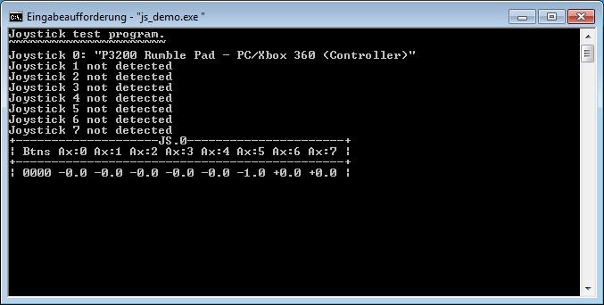 js_demo.exe – Mit Joystick